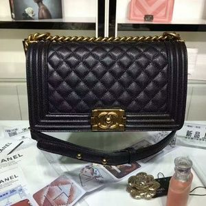 Chanel Le Boy Bag New Check Description